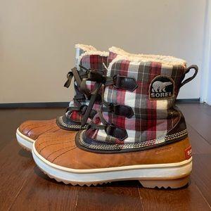 Plaid Sorel Boots
